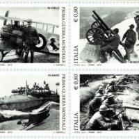 Italia: 4 francobolli per il centenario della Grande Guerra