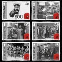 Gibilterra: francobolli per i 100 anni della Grande Guerra