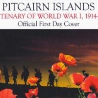 Isole Pitcairn: 3 francobolli in un foglio a forma di croce